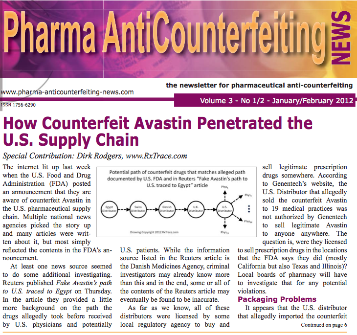 How Counterfeit Avastin Penetrated the US Supply Chain